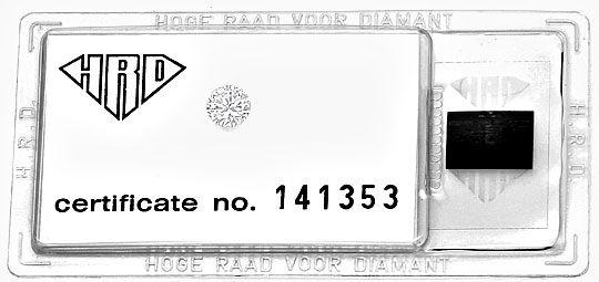 Foto 1, 0,69ct Brilliant Lupenrein Top Wesselton HRD Zertifikat, D6567