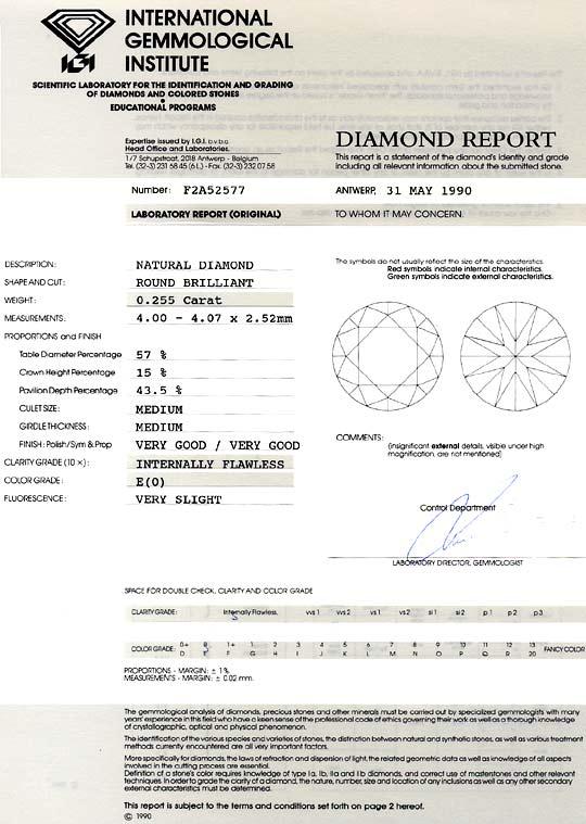 Foto 9, River Lupenrein Brillant 0,255ct IGI Diamant Zertifikat, D6574