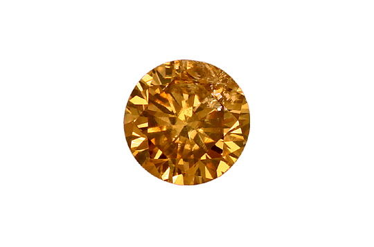 Foto 2, Brillant 0,45Carat HRD Fancy Intense Yellowish Brown P1, D6595