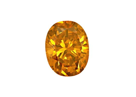 Foto 2, Ovaler Diamant 0,33 Carat Fancy Yellowish Brown SI2 IGI, D6596