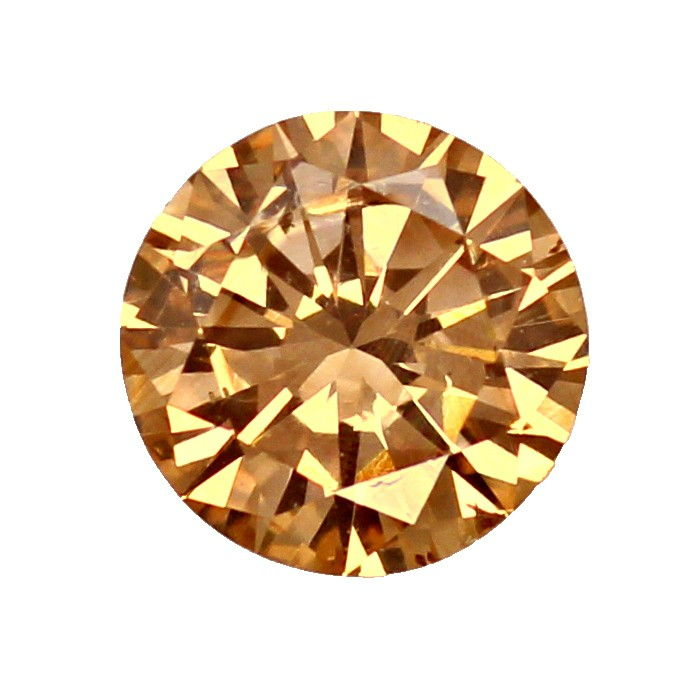 Foto 2, Diamant 0,54ct Brilliant in Fancy Cognac Bronze SI1 IGI, D6610