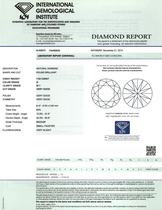 Foto 9 - 1,03ct Brillant in Top Wesselton SI1 Zertifikat von IGI, D6617