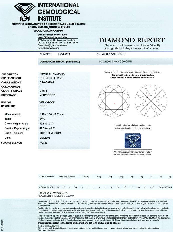 Foto 9 - 0,96ct Brillant Zertifikat von IGI in Top Crystal, VVS2, D6627