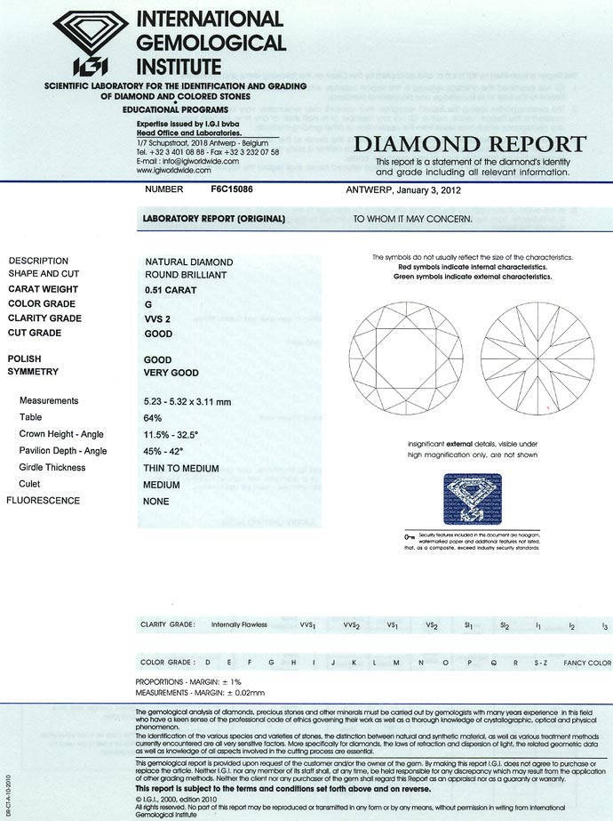 Foto 9, 0,51ct Brillant in Top Wesselton VVS2 mit IGI Expertise, D6634