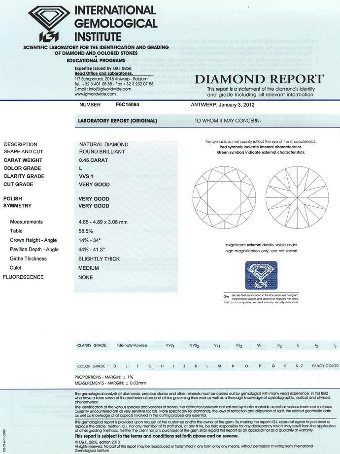 Foto 9 - 0,45 Carat IGI Zertifizierter Brillant in Top Cape VVS1, D6636