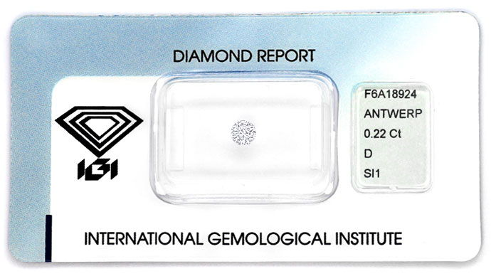 Foto 1, 0,22ct Diamant in River D Hochfeines Weiss Plus SI1 IGI, D6644