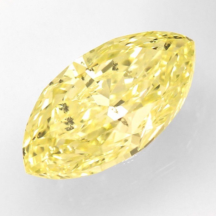 Foto 2, Zitronen Diamantnavette 1,13ct Natural Fancy Yellow IGI, D6649