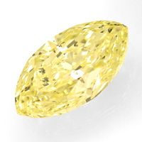 zum Artikel Zitronen Diamantnavette 1,13ct Natural Fancy Yellow IGI, D6649