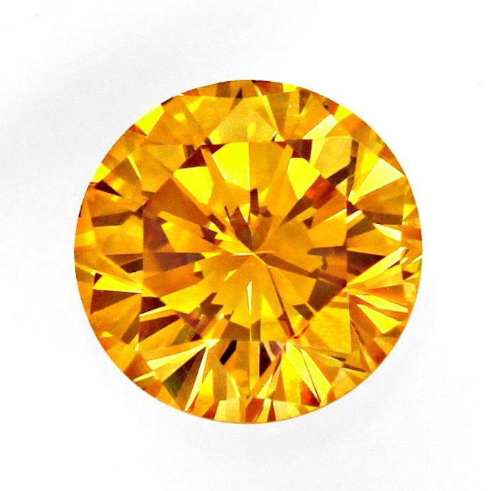 Foto 2, Brillant 0,56 Fancy Intense Orangy Yellow HRD Expertise, D6665