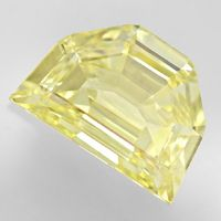zum Artikel Diamant 0,72ct Fancy Yellow Zitrone Shield Schliff, HRD, D6666