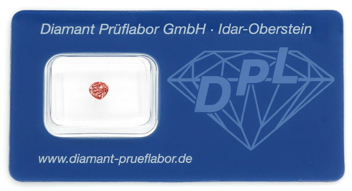 Foto 1, Fancy Intense Brownish PINK 0,335ct Diamant Tropfen DPL, D6668
