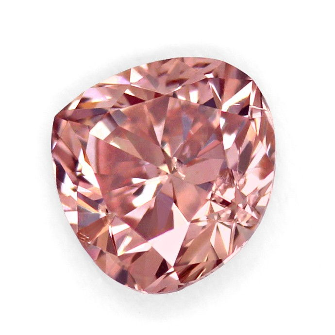 Foto 2, Fancy Intense Brownish PINK 0,335ct Diamant Tropfen DPL, D6668