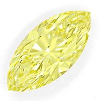 zum Artikel Diamant 1,062ct Fancy Vivid Yellow Zitrone Navette, DPL, D6669