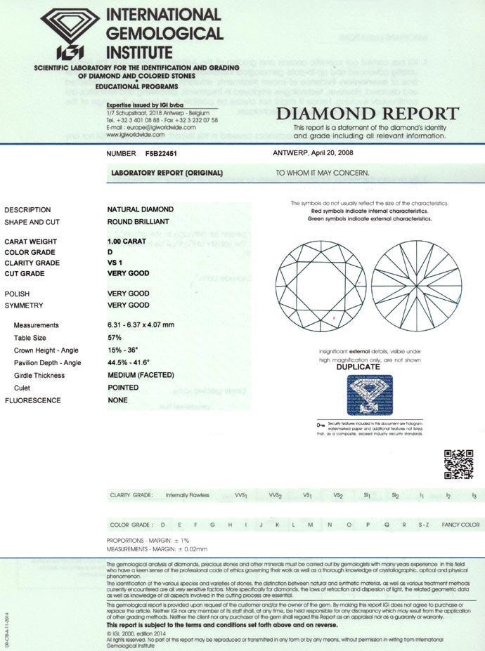 Foto 9 - Top Brillant 1,0ct mit Expertise von IGI in River D VS1, D6674