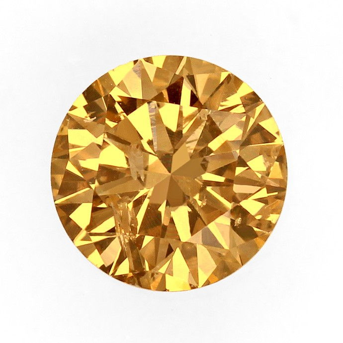 Foto 2, Brillant 1,01 Carat Natural Fancy Brown Gold Bronze IGI, D6675