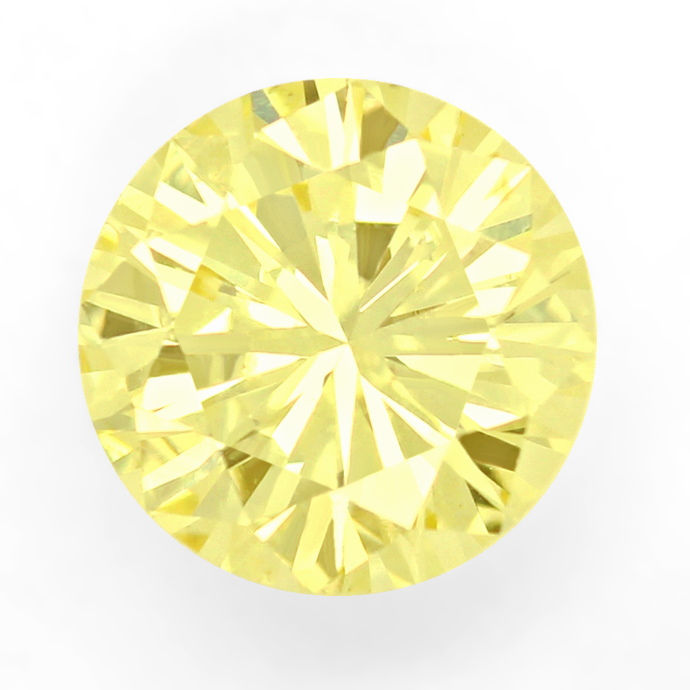 Foto 2, Diamant 1,16 Brilliant Natural Fancy Yellow Zitrone IGI, D6678