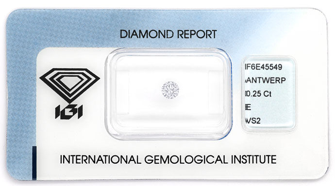 Foto 1 - Diamant 0,25ct Brillant Zertifikat von IGI in River VS2, D6693