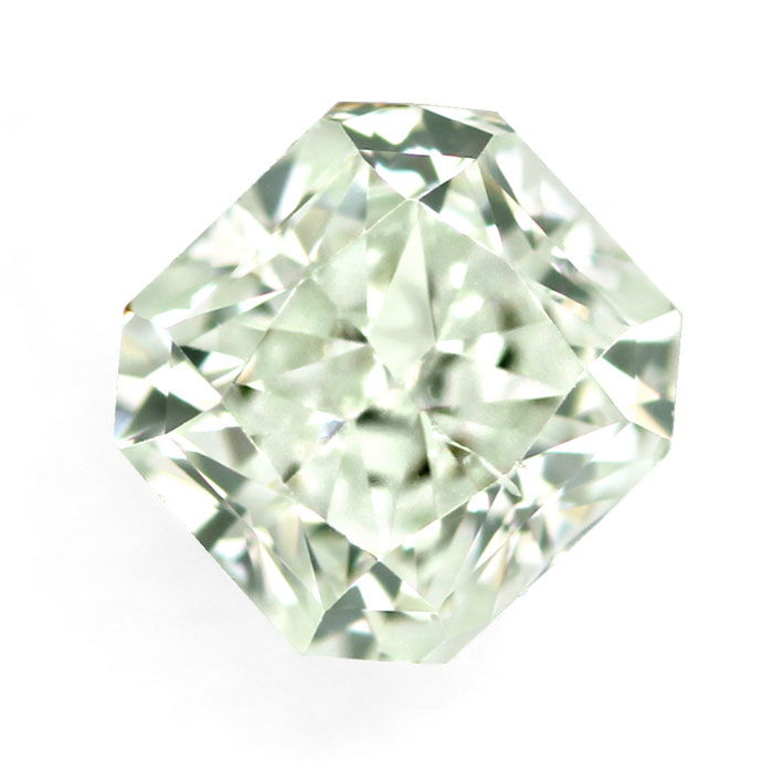 Foto 1, Fancy Diamant Rectangular Light Green 0,17Carat mit IGI, D6766