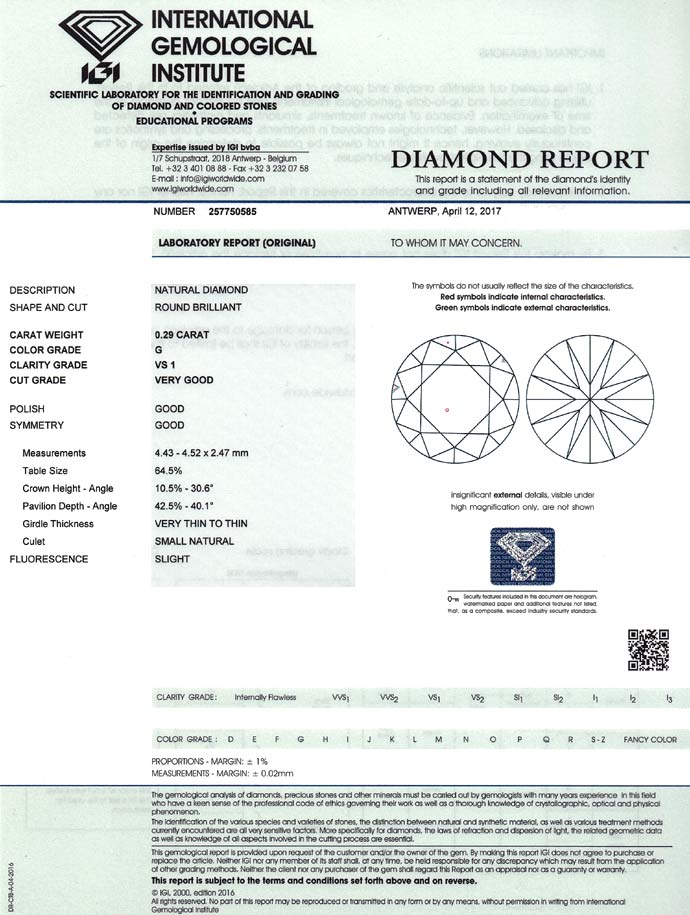 Foto 9 - Diamant 0,29ct Brillant Top Wesselton VS1 IGI Expertise, D6777