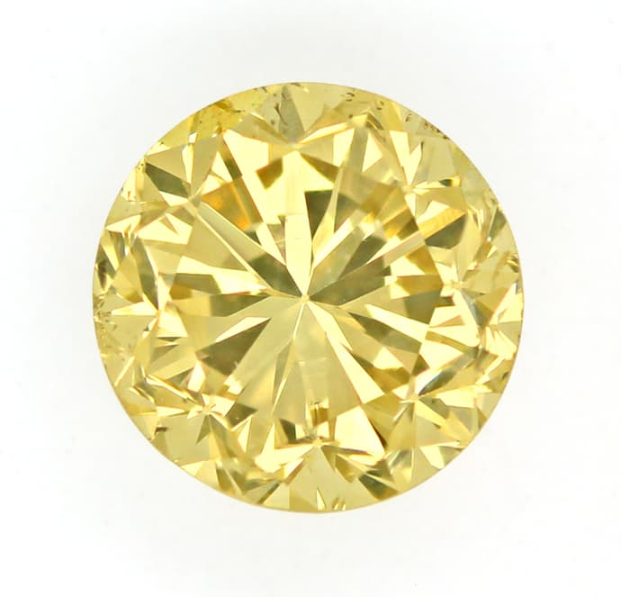 Foto 2 - 1,08ct Brillant Spitzen Fancy Greenish Yellow IGI, D6796