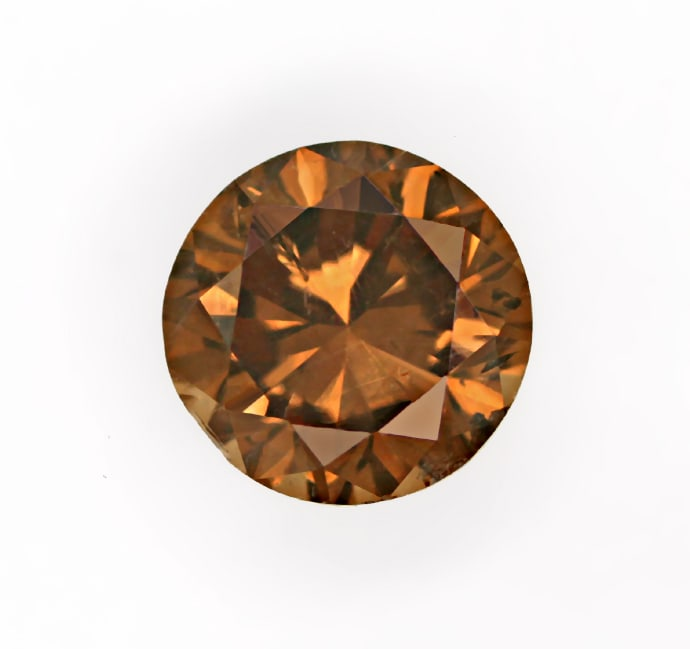 Foto 2, Brilliant 1,25ct sensationell intensiv Fancy Cognac IGI, D6798