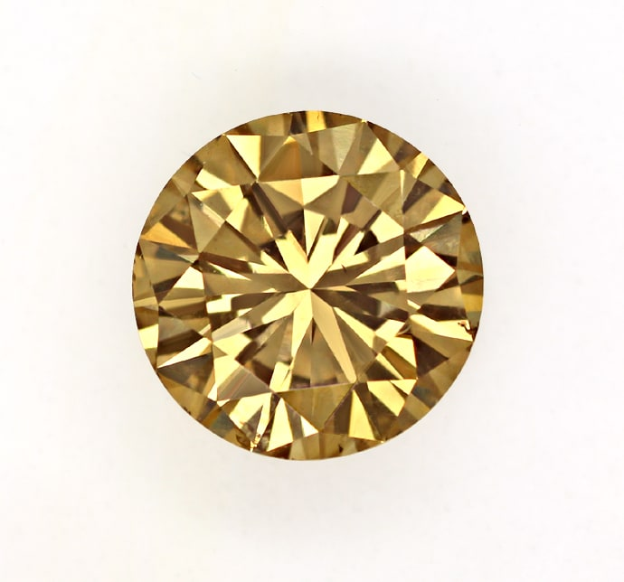 Foto 2, 1,63ct Brillant Spitzen Farbe Fancy Brown IGI Expertise, D6802