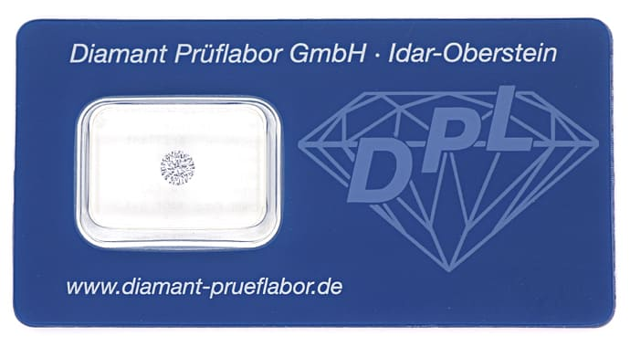 Foto 1, Brillant 0,35ct in Top Wesselton SI2 mit DPL Zertifikat, D6810