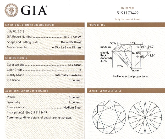 Foto 9 - BEST Diamant 1,14ct lupenrein River D 3ex GIA Gutachten, D6814