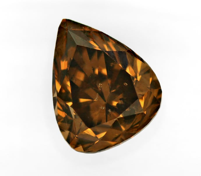 Foto 2, Diamant 1,64ct Natural Fancy Orangy Brown IGI Expertise, D6818