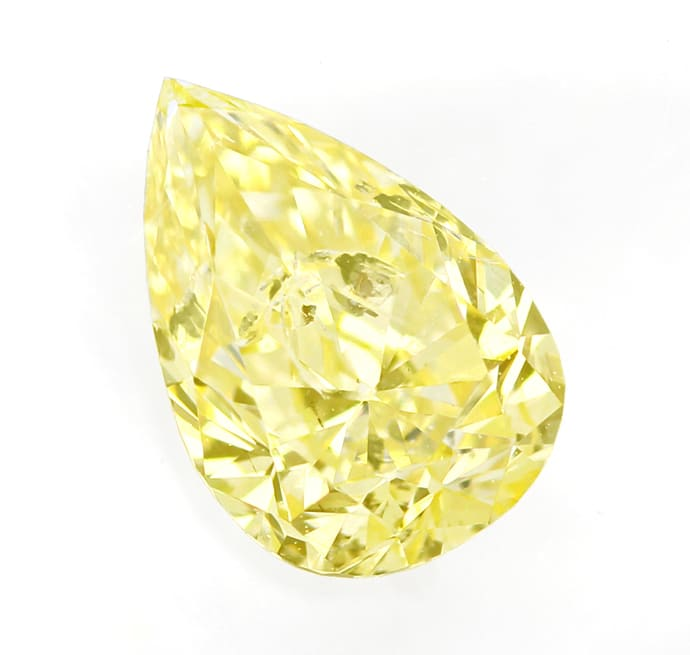 Foto 2 - Pear Cut Diamant 0,50ct Fancy Intense Yellow GIA, D6835
