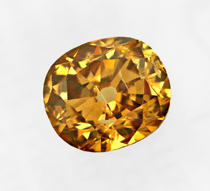 Foto 2 - Cushion Diamant 0,70ct Fancy Deep Brown Orange GIA, D6836