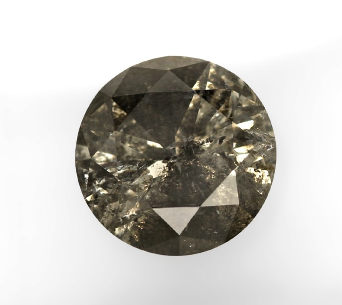Foto 2, Einkaräter Brillant 1,15ct Fancy Grey IDL Zertifikat, D6838