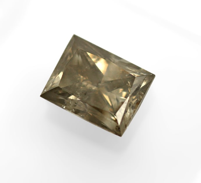 Foto 2, Princess Cut Diamant 0,54ct IDL Zertifikat, D6839