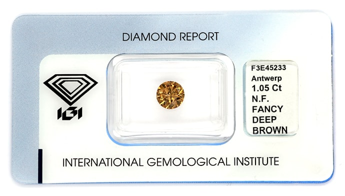 Foto 1 - Brillant Einkaräter 1,05ct Fancy Deep Brown IGI, D6842