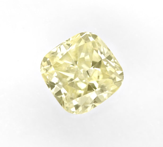 Foto 2, 0,43ct Square Cushion Brillant Yellow VVS IGI, D6848