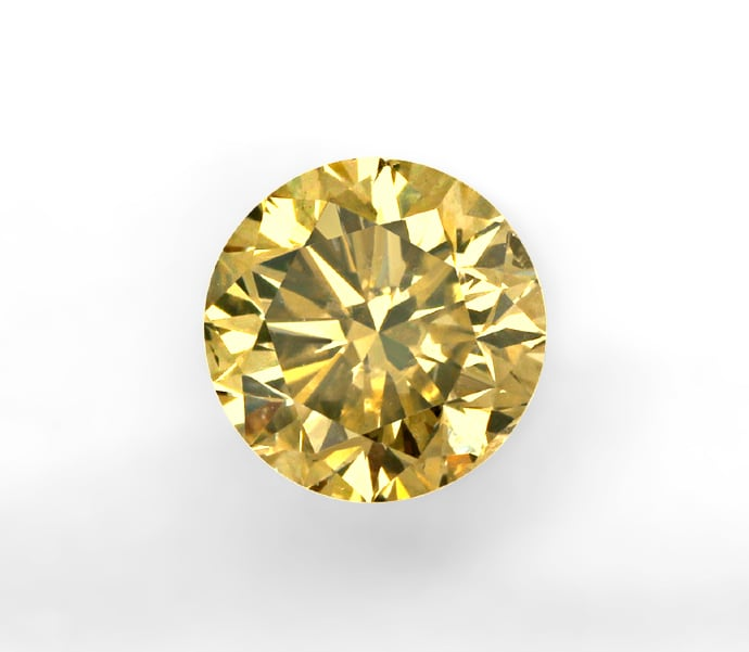 Foto 2, Brillant 1,12ct Fancy Olive Braun HRD Expertise, D6852