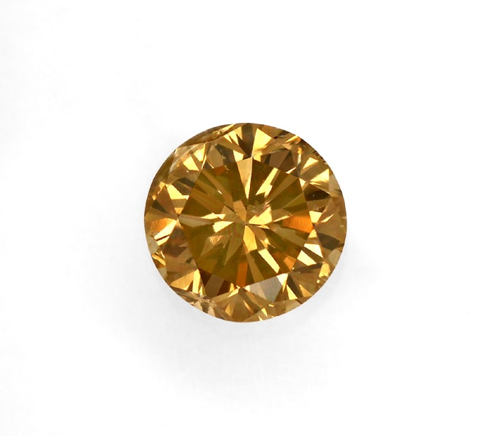 Foto 2, Brillant 0,68ct Fancy Intense Yellowish Brown HRD, D6853