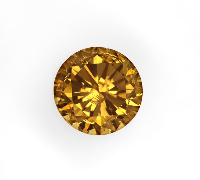 Foto 2, Brillant 0,64ct Fancy Intense Brown SI1 HRD Expertise, D6854
