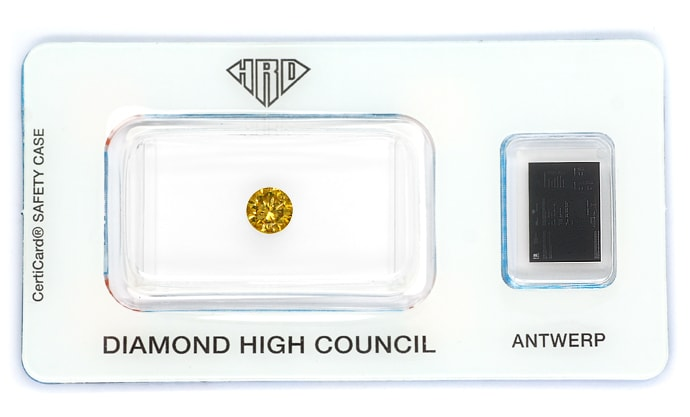 Foto 1, Brillant 0,61ct Fancy Intense Yellowish Brown HRD, D6855