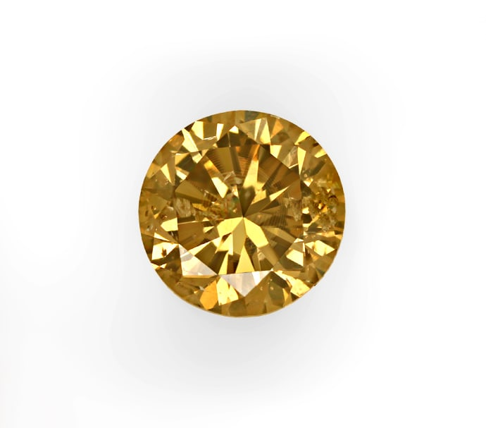 Foto 2, Brillant 0,61ct Fancy Intense Yellowish Brown HRD, D6855