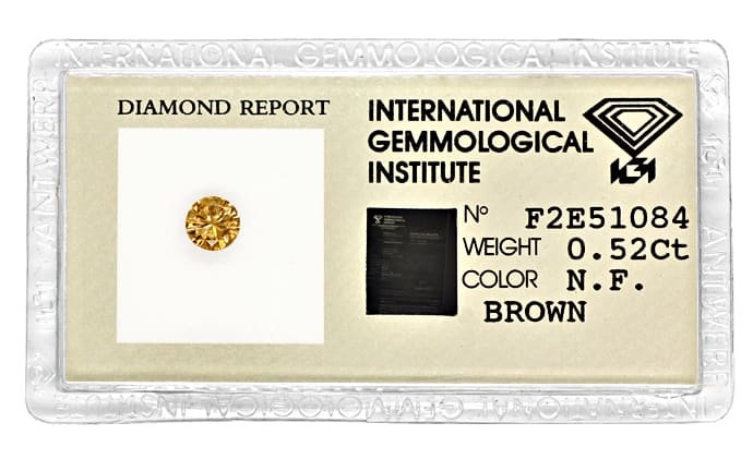 Foto 1 - Brillant 0,52ct Fancy Brown IGI Zertifikat, D6856