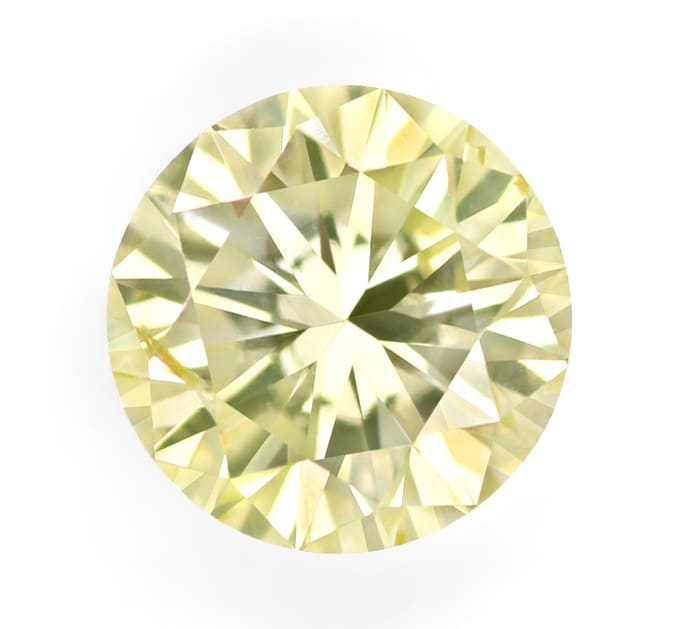 Foto 2, Brillant 0,49ct Greenish Yellow IGI Zertifikat, D6866