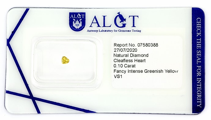 Foto 1 - Herz Diamant 0,10ct Fancy Intense gr. Yellow, D6907