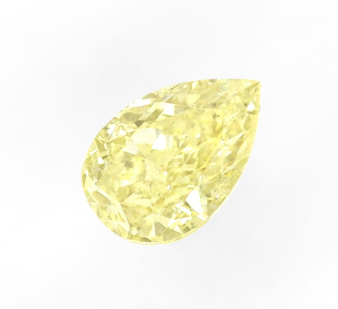 Foto 2 - Tropfen Diamant 0,32 Carat in Fancy Yellow, D6908