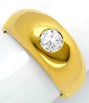 F0657, Typ XD, Gold Diamant Fassung 8,5mm Bandring, Gelbgold Weissgold