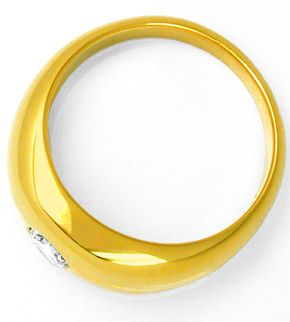 F0657, Typ XE, Gold Diamant Fassung 8,5mm Bandring, Gelbgold Weissgold
