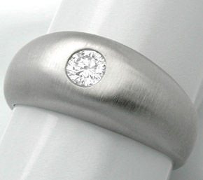 F0657, Typ XI, Gold Diamant Fassung 8,5mm Bandring, Gelbgold Weissgold