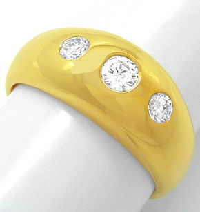 F0657, Typ XK, Gold Diamant Fassung 8,5mm Bandring, Gelbgold Weissgold