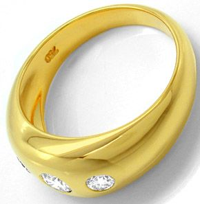 F0657, Typ XL, Gold Diamant Fassung 8,5mm Bandring, Gelbgold Weissgold