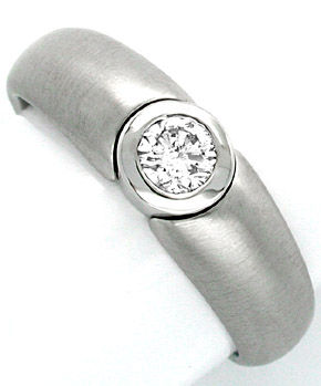 F0879, Typ XJ, Bandring Zarge Diamantfassung 6,1mm 0,5ct